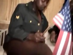 Ebony army Chicks Facesit and Trample