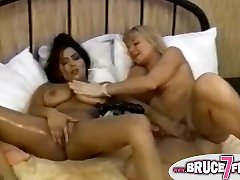 Busty the rack5 lesbian toyed