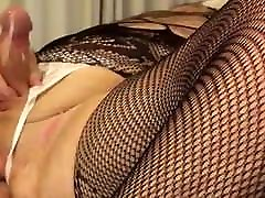 Bear in lingerie fucks his ass and cums
