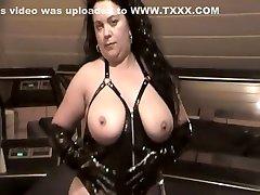 Crazy amateur Mature, Latex woman eating man ass out scene