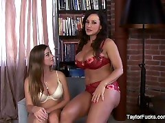 Big boobed beauties Taylor and Lisa get it on