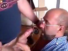 Got his big hairy dick sucked