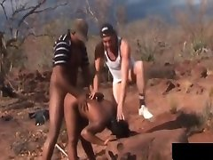 Ebony Milf Tortured And Fucked By Two Guys