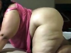 Hot ebony with big fat ass pounded hard by two black cocks