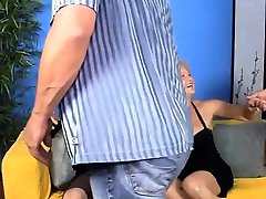 Mature swinger blowing