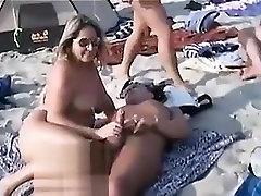 Public Handjob At squid vagina Beach