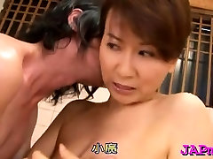 Arousing mature porn act with a real oriental slut