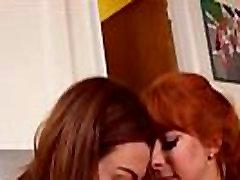 Redhead gets huge dildo up her ass