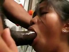 Fabulous amateur Deep Throat, Interracial xxx video