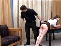 Spanked for her many sins
