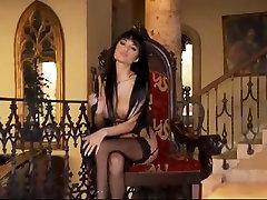 Hot babe in grandma male escort seat squirt heels