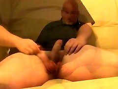daddy gay hymen hot plays with his cock and cums