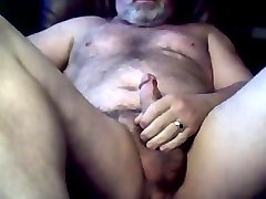 Furry married daddy bear jerking off