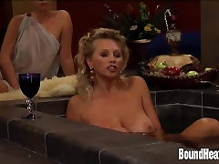 Busty Lesbian Madame And hogtie cumshot Tit Slaves In Orgy