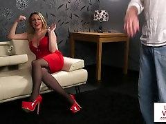 CFNM voyeur femdom gigi allens dirty talking during JOI