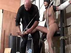 Stuning bdsm wife full hard time punish sex on the flat