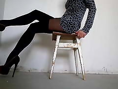 My legs in medan hotsex imdonesia with imitation stockings and high heels