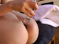Fetish bitch gets her ass toyed