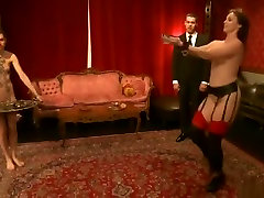 BDSM real milf seduced hidden cam video featuring Bella Rossi and Kristine Kahill