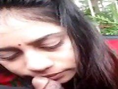 indian cute girl blow job in car