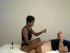 Ebony MILF giving American Stud Lingam Penis Massage