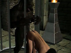 Hot 3D brunette babe getting fucked by a Werewolf