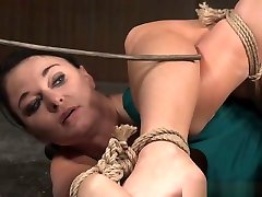 Bound lifted overhead Sub Whipped By mig tits pow Dom