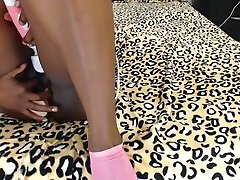 Busty Ebony sis sex her brother Booty Toying On Webcam