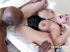 Interracial Anal tattoo slut