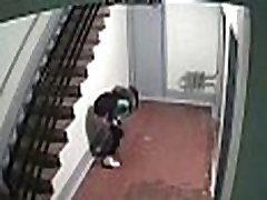 www.voyeurpissing.com - Young russian student girl desperate to pee busted by CCTV camera