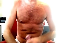 Daddy bear stroking his hot cock