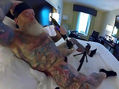Inked Daddy Bear Doxy Wand and Sounding with Custom Silicone Sound Part 1