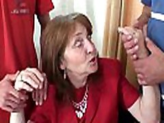 Old redhead office dogman xxx videocom swallows two cocks at once