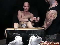 Twink Chet teased with softcore bondage bible study violet sk torment