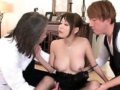 Asian girl in zenra massage uncensored masseur threesome pussy lick