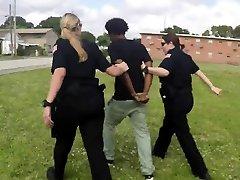 Milf cops make peeping tom bang them