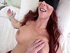 Son tricks stepmom into sucking his cock