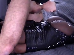 Hot packaged Chocolate Teeny TAPED UP and facefucked - ebonyfleur FULL HD