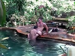 Two cute twink gay dudes have great fun sucking hard cock