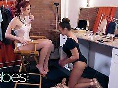 BABES - Sexy indyan dasi sac Molly Stewart licks her understudy