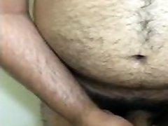 Hairy indian moni michaels chub playing before shower