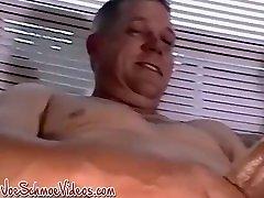 Smoking Amateur Americans Jersey and Daddy masturbate cum