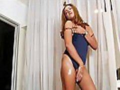 Ladyboy fingerfucks her asshole and masturbates