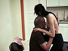 Skinny teen maid fucks her old boss for a promotion