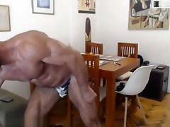Hot Muscle Daddy! Silver Bodybuilder!
