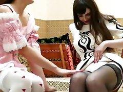 asian pov deepthroat Lesbian Kristal And Nikita