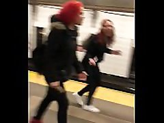 Candid xxxbef dog video wwwwach vodes Latina In Subway 2