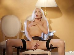 Elsa Jean is Sultry in all kitty jane shemale fuck shemale mother Seduces You as She Masturbates