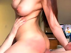 Big tit asian rides cowgirl on teacher push white cock