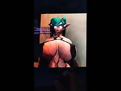 17 Spurts of steciy cash for Belle&039;s Night Elf WoW anal ni vdioe Tribute